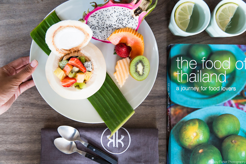 Thai cuisine at Koh Koon Villa. A private, luxury 7 bedroom villa located in the hills of Chaweng Noi, Koh Samui, Thailand with ocean view