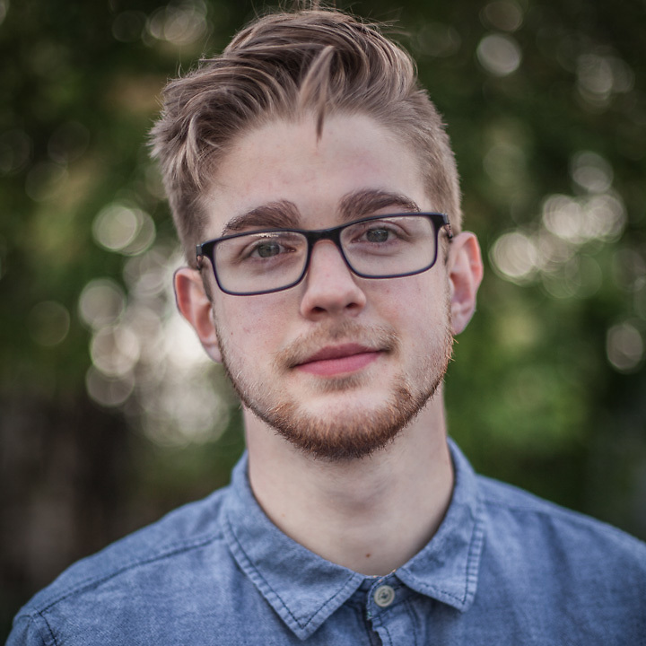 """Josh Springer, age 20, is a student and a member of the band Harlequin State.  The words that best describe me are """"Busy but organized.""""  Do you make your bed in the morning?  """"I clean my room every morning but, no, I don't make my bed.""""  gcfanatic211@hotmail.com"""