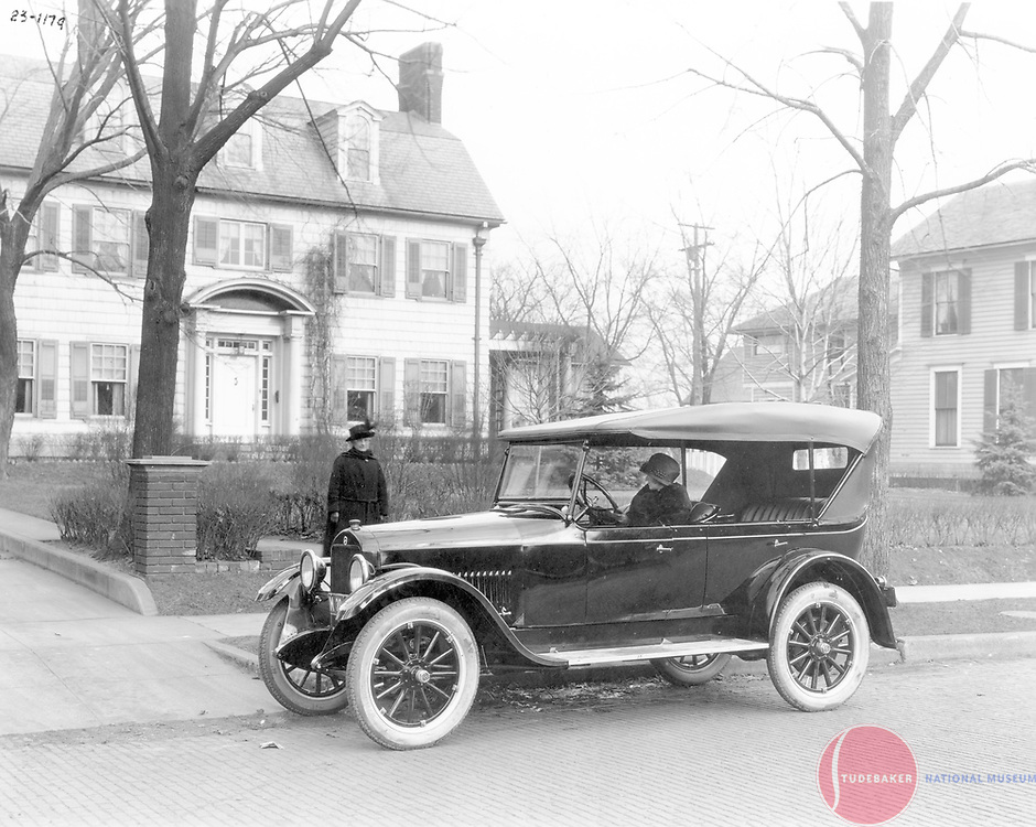 1923 Studebaker Light Six Touring Car.  This image was taken in South Bend's Chapin Park neighborhood.