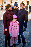 12-3-2019 - STOCKHOLM - The Crown Princess name day<br /> Crownprincess Victoria with prince Daniel and Princess Estelle  aND PRINCE OASCAR during Name<br /> day 2019 at The Inner Courtyard, the Royal Palace of Stockholm . Copyright Robin Utrecht<br /> 12-3-2019 - STOCKHOLM - De naamdag van de Kroonprinses<br /> Kroonprinses Victoria met prins Daniel en prinses Estelle en PRINS OASCAR tijdens Naam<br /> dag 2019 op The Inner Courtyard, het Koninklijk Paleis van Stockholm. Copyright Robin Utrecht zweden