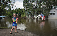 Sorrento, Louisiana, where flood waters remained days after the rain storm. Aug 20th