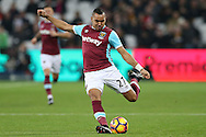 Dimitri Payet of West Ham United in action. Premier league match, West Ham Utd v Hull city at the London Stadium, Queen Elizabeth Olympic Park in London on Saturday 17th December 2016.<br /> pic by John Patrick Fletcher, Andrew Orchard sports photography.