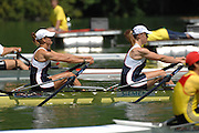 Lucerne, SWITZERLAND, GBR W2X, Bow Elise LAVERICK and Anna BEBINGTON,  competing at the 2007 FISA World Cup, Lucerne, on the Rotsee Lake, 13/07/2007  [Mandatory Credit Peter Spurrier/ Intersport Images] , Rowing Course, Lake Rottsee, Lucerne, SWITZERLAND.