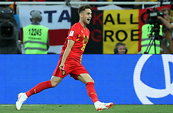 June 28, 2018 - Kaliningrad, RUSSIA - Belgium's Adnan Januzaj celebrates after scoring the 0-1 goal during a soccer game between Belgian national soccer team the Red Devils and England, Thursday 28 June 2018 in Kaliningrad, Russia, the third and last in Group G of the FIFA World Cup 2018. BELGA PHOTO BRUNO FAHY (Credit Image: © Bruno Fahy/Belga via ZUMA Press)