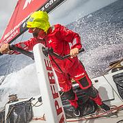 Leg 8 from Itajai to Newport, day 10 on board MAPFRE, Tamara Echegoyen. 01 May, 2018.