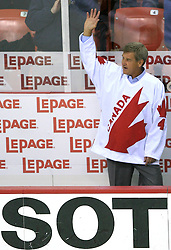 Bobby Orr of Canada?s 1976 Canada Cup team, that players are in Hockey Hall of Fame,at Canada - USA game at IIHF WC 2008 in Halifax, on May 06, 2008 in Metro Center, Halifax, Nova Scotia, Canada. Germany won 4:2. (Photo by Vid Ponikvar / Sportal Images)