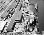 "Ackroyd 18335-11 ""FMC. aerials of yard 1000'. May 29, 1973."" (Gunderson, vicinity of new crane."