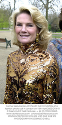 Former debutante LADY MARY-GAYE CURZON at a fashion photo call in London on 15th April 2002.OYX 41