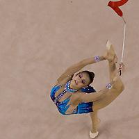 Evgenia Kanaeva (RUS) performs with the ribbon during the final of the 2nd Garantiqa Rythmic Gymnastics World Cup held in Debrecen, Hungary. Sunday, 07. March 2010. ATTILA VOLGYI