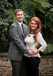 © Licensed to London News Pictures. 25/01/2013. London, UK. Liz Evans (27), Slimming World's Miss Slinky 2013, is seen with her husband, Fran (28), in the garden of the Ritz Hotel in London today (25/01/13). Liz, formerly a size 18, lost 5 stone in less than eight months to become a size 8 in preparation for her wedding day. Photo credit: Matt Cetti-Roberts/LNP