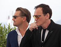 Leonardo DiCaprio and Director Quentin Tarantino at Once Upon A Time... In Holywood film photo call at the 72nd Cannes Film Festival, Wednesday 22nd May 2019, Cannes, France. Photo credit: Doreen Kennedy
