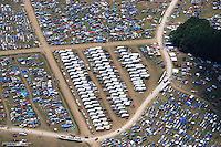 Aerial photo of the four day Bonnaroo Music Festival held in Manchester Tennessee every June.