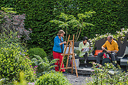 Art therapy in the Linklaters Garden for Maggies - The Chelsea Flower Show organised by the Royal Horticultural Society with M&G as its main sponsor for the final year.