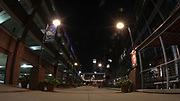 A general overall view of the Durham Bulls Athletic Park at night after the MiLB International Championship baseball game, Thursday, September 12, 2019, in Durham, N.C. The Columbus Clippers beat the Durham Bulls 6-2 to complete a three-game sweep of the two-time defending champion. (Brian Villanueva/Image of Sport)
