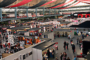Panoramic view of the Erotica 2006 show in London, UK, on Friday, Nov. 17, 2006. Erotica is the world's largest adult lifestyle show. It attracts about 80,000 visitors every year with its over 150 retailer exhibitors, dazzling and decadent transvestite cabaret shows, fun foreplay seminars, beautiful lingerie collections, art and fetish demonstrations. **Italy Out**
