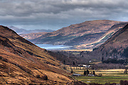 Glimpse of the West Coast of Scotland through a u-shaped valley (strath). Image processed using HDR to enhance detail.