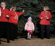 Pine Bush, NY - Members of the Not Just Country Line Dancers, and a young guest, perform at the Pine Bush Festival of Lights holiday celebration on the evening of Dec. 1, 2008.