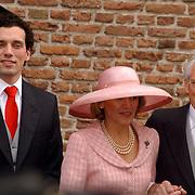 NLD/Naarden/20051022 - Huwelijk prins Floris en Aimee Söhngen, broer en ouders, hans Söhngen en Eleonoor Stammeijer