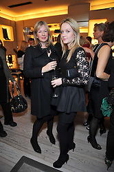 Left to right, DENISE ELPHICK and CAMILLA ELPHICK at a party to celebrate the arrival of the 'A Princess to be a Queen' collection at the Roger Vivier boutique on Sloane Street, London on 20th October 2009.