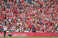 Arsenal manager Arsène Wenger and the Arsenal supporters during the The FA Cup final match between Arsenal and Chelsea at Wembley Stadium, London, England on 27 May 2017. Photo by Shane Healey.