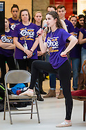 """Town of Wallkill, New York -   A Washingtonville High School student sings a song from """"Once Upon A Mattress"""" during the Orange County Arts Council's All-County High School Musical Showcase and Arts Display at the Galleria at Crystal Run on Feb. 27, 2016."""