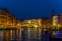 Rialto Bridge, Grand Canal, Venice, Italy.