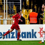 Gaziantepspor's Bekir Ozan Has celebrate his goal during their Turkish superleague soccer match Fenerbahce between Gaziantepspor at the Sukru Saracaoglu stadium in Istanbul Turkey on Monday09 January 2011. Photo by TURKPIX