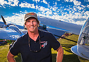 David Marco and his fully restored and airworthy Lockheed 12A Electra Junior.  Created for General Aviation News.