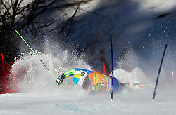KUERNER Mihaof Slovenia felt during 1st Run of 8th Men's Giant Slalom - Pokal Vitranc 2012 of FIS Alpine Ski World Cup 2011/2012, on March 10, 2012 in Vitranc, Kranjska Gora, Slovenia.  (Photo By Vid Ponikvar / Sportida.com)
