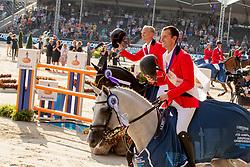 Wathelet Gregory, BEL, MJT Nevados S, Guery Jerome, BEL, Quel Homme de Hus<br /> European Championship Jumping<br /> Rotterdam 2019<br /> © Dirk Caremans
