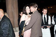 CLAIRE JAMES; ALEX JAMES, Harpers Bazaar Women of the Year Awards. North Audley St. London. 1 November 2010. -DO NOT ARCHIVE-© Copyright Photograph by Dafydd Jones. 248 Clapham Rd. London SW9 0PZ. Tel 0207 820 0771. www.dafjones.com.