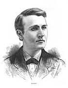 Thomas Alva Edison (1847-1931) American inventor. Engraving c1880