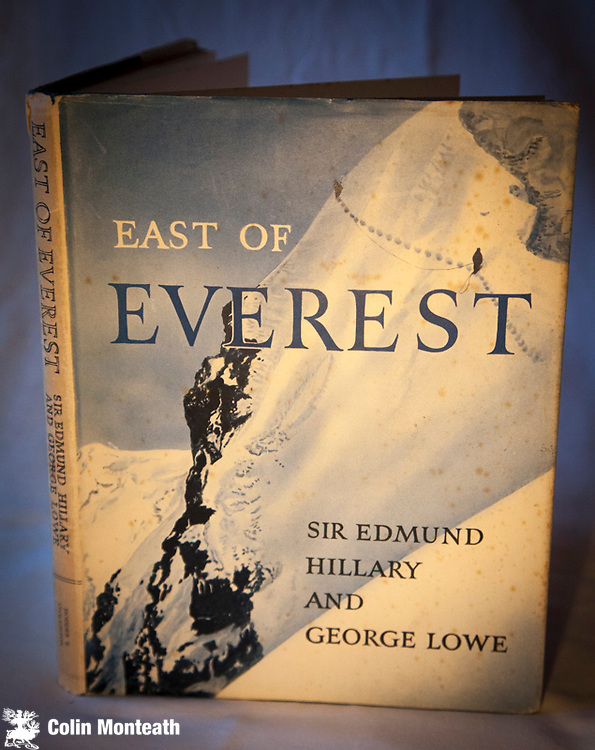 EAST OF EVEREST - SIR EDMUND HILLARY & GEORGE LOWE - Hodder & Stoughton, London, 1st edn., B&W plates + map. 1956 VG, some foxing, VG jacket - An account of the NZAC Himalayan expedition to the Barun Valley in 1954 - $NZ80