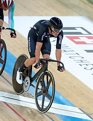January 27, 2019 - Hong Kong, Hong Kong SAR, China - The New Zealand team of Thomas Sexton (pictured) and Campbell Stewart wins the Mens Madison Final.UCI Track Cycling World Cup Hong Kong 2019, Qualifiers Leg VI at the Hong Kong Velodrome in Tseung Kwan O ,Kowloon (Credit Image: © Jayne Russell/ZUMA Wire)