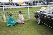 JOSE FONSECA; SOPHIE WARRE, Glorious Goodwood. Thursday.  Sussex. 3 August 2013