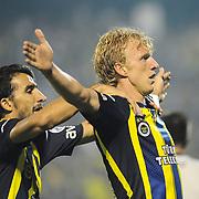 Fenerbahce's number 11  player Dirk Kuijt during their Turkish Super Cup 2012 soccer derby match Galatasaray between Fenerbahce at the Kazim Karabekir stadium in Erzurum Turkey on Sunday, 12 August 2012. Photo by TURKPIX