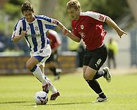 Photo: Aidan Ellis.<br /> Huddersfield Town v Bristol City. Coca Cola League 1. 12/08/2006.<br /> Bristol's David Noble and town's Mark Hudson