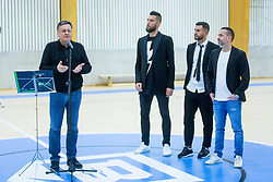 Zoran Jankovic, Bostjan Cesar, Bojan Jokic and Sasa Abric during Opening event of Sports hall Baza, on January 8, 2018 in Sports hall Baza, Ljubljana, Slovenia. Photo by Ziga Zupan / Sportida