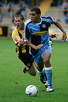 Photo: Pete Lorence.<br />Boston United v Wycombe Wanderers. Coca Cola League 2. 28/10/2006.<br />Wycombe's Scott Golbourne charges down the wing, chased by David Galbaith.