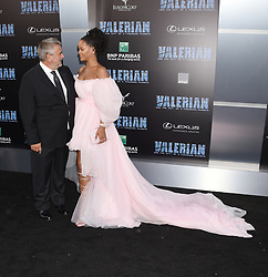 'Valerian And The City Of A Thousand Planets' World Premiere held at the TCL Chinese Theatre. 17 Jul 2017 Pictured: Luc Besson and Rihanna. Photo credit: Janet Gough / AFF-USA.COM / MEGA TheMegaAgency.com +1 888 505 6342