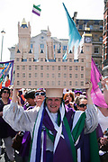 Tens of thousands of women and girls particpated in the Procession event on June 10th 2018, in London, United Kingdom. The procession was a mass participation artwork produced by Artichoke and commissioned by 14-18 NOW. The event took place at the centenary of the women over the age of 30 getting the right to vote.