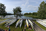 Trackai. LITHUANIA.General views, GV's Boat storage and boating area.  2012 FISA U23 World Rowing Championships,   17:45:27 {dow], {date} [Mandatory Credit: Peter Spurrier/Intersport Images]..Rowing. 2012. U23.