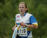 Orientering, 21. juni 2002. NM sprint. Lene Moe, Bækkelaget.