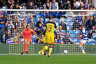 Queens Park Rangers striker Matt Smith (17) can't connect to the end of a cross during the EFL Sky Bet Championship match between Queens Park Rangers and Burton Albion at the Loftus Road Stadium, London, England on 23 September 2017. Photo by Richard Holmes.
