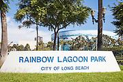 Rainbow Lagoon Park In Long Beach California