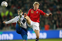 Fotball , 24 . mars 2007 , EM-kvalifisering , Gruppe C , Norge - Bosnia Herzegovina 1-2<br /> Steffen Iversen  , Norge,  Branimir Bajic , Bosnia<br /> <br /> Norway