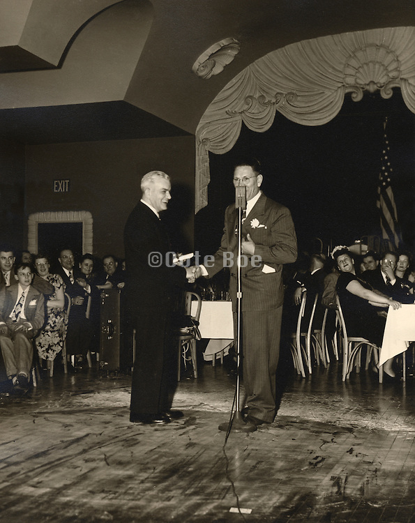 Honoring the director of a company, 1940s