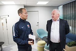 August 31, 2017 - Oslo, NORWAY - 170831 Communications director Svein Graff and president Terje Svendsen of the Norwegian Football Association (NFF) after a press conference regarding football player Ada Hegerberg (not pictured) taking a break from the national team on August 31, 2017 in Oslo..Photo: Jon Olav Nesvold / BILDBYRN / kod JE / 160000 (Credit Image: © Jon Olav Nesvold/Bildbyran via ZUMA Wire)
