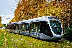 Toulouse tram at the Palais de Justice terminus<br /> <br /> (c) Andrew Wilson | Edinburgh Elite media