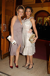 Left to right, actress SHERIDAN SMITH and actress KATHRYN DRYSDALE at the return of Dralion to celebrate the Cirque Du Soleil's 20th Anniversary at the Royal Albert Hall, London on 6th January 2005.<br /><br />NON EXCLUSIVE - WORLD RIGHTS